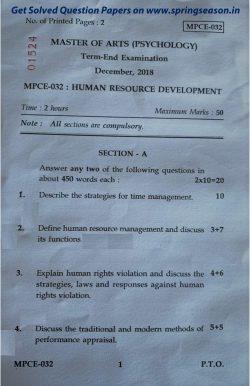 Human Resource Management Paper 2017 | Asdela